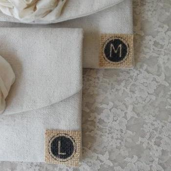 Personalized Initial Add On Burlap Vintage Typewriter Initial Bridesmaid Clutch Rustic Bridesmaid Gift Wedding Vintage Wedding